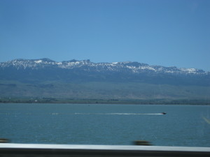 Passing Yellowstone Lake on our way to Canyon.