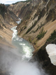 Grand Canyon of the Yellowstone River, from Lower Falls